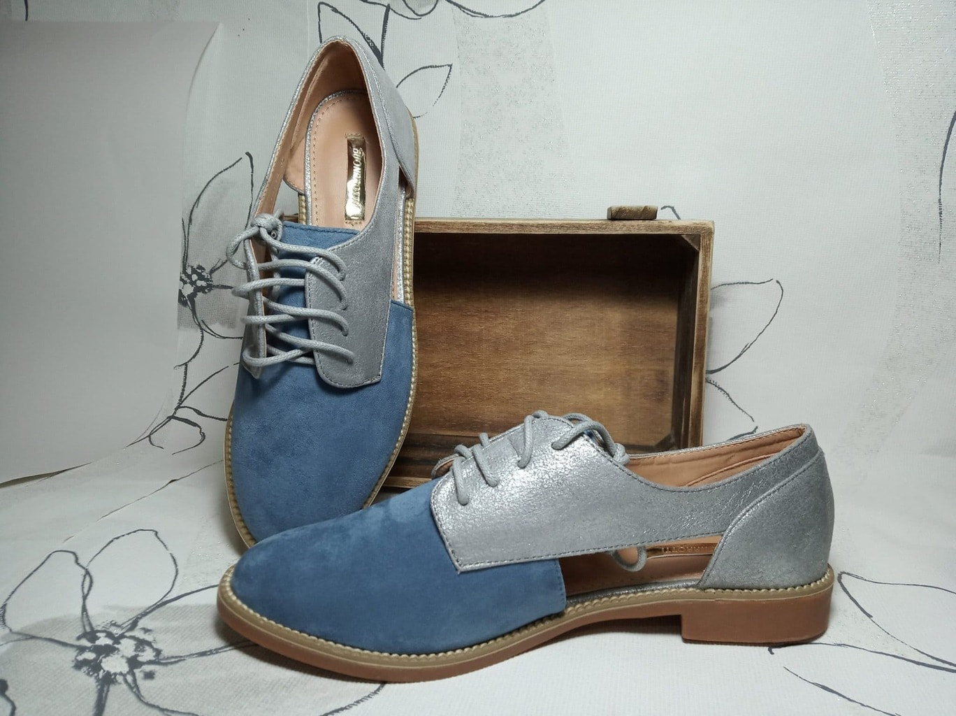 Zapato plano descubierto -Azul