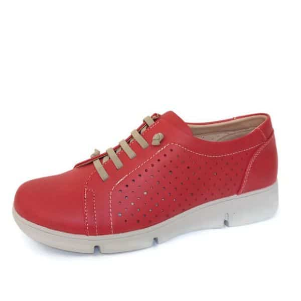 Zapato Deportivo Plataforma Mujer Rojo