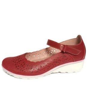Zapato-plano-mujer-rojo-verano