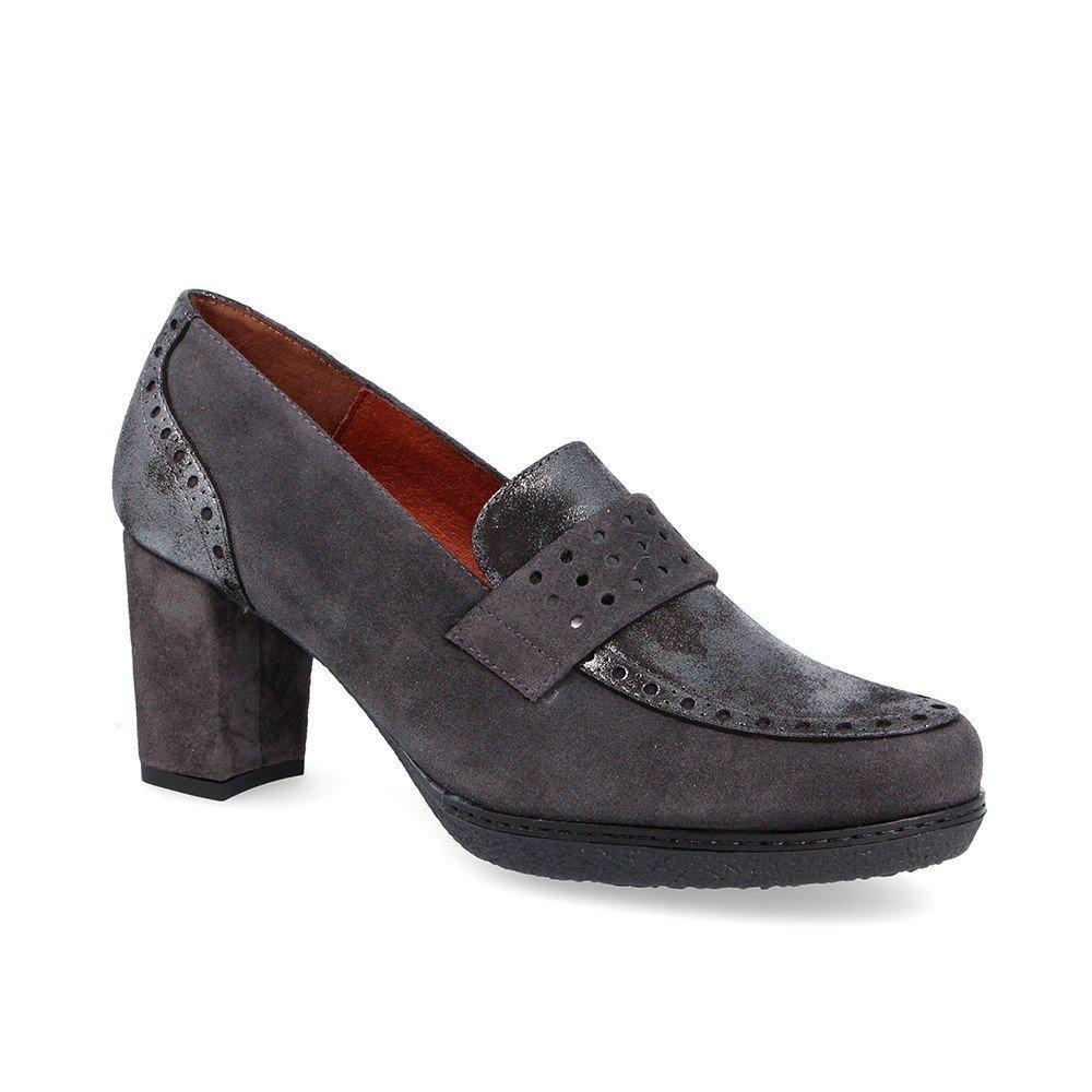 Zapato de señora Desiree 82516 - Piel Gris -Talla 38 grande