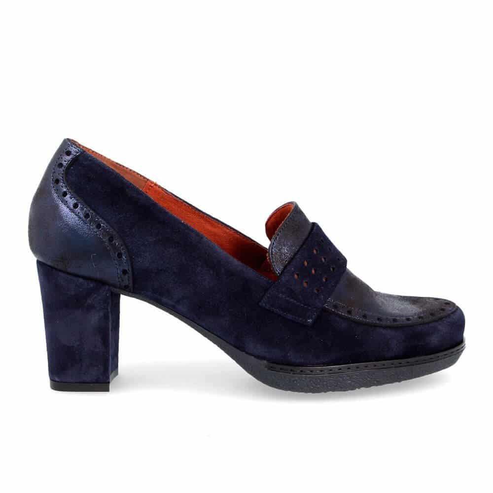 Zapato de señora Desiree 82516 - Piel Azul -  talla 39 grande