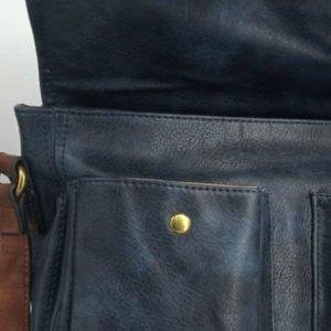 bolso-azul-y-marron-con-bolsillos