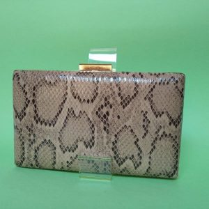 Clutch-serpiente-marron-cadena