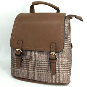 mochila-retro-estampado-tartan-marron