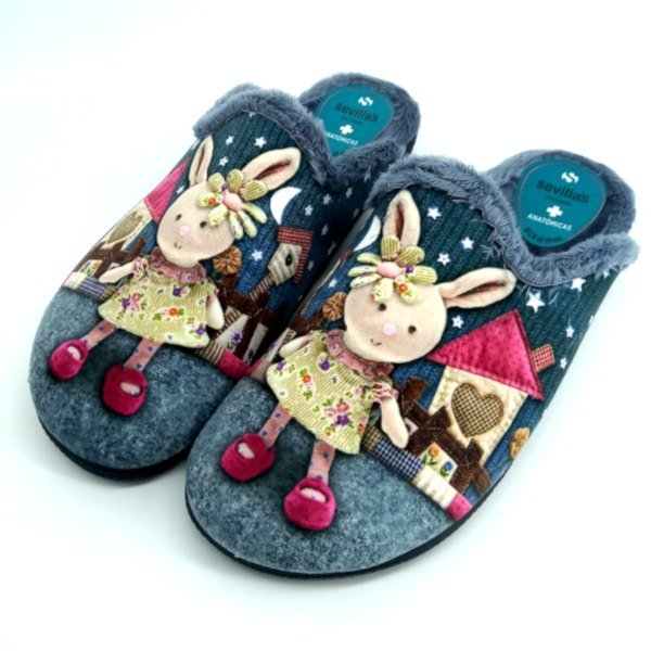 Zapatillas de Estar por Casa con Conejitos