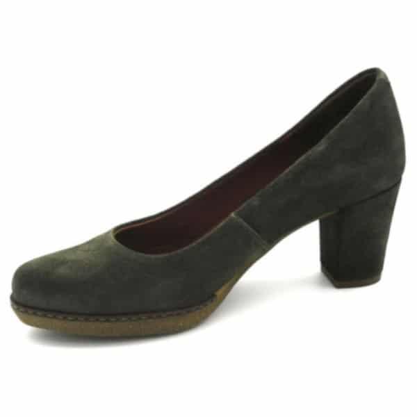 Zapato de Tacón Medio Desirée Caqui