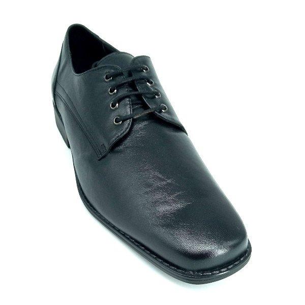 Zapato Negro con Punta Cuadrada Maxi Confort