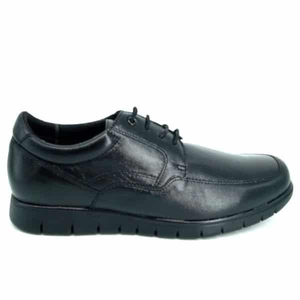 Zapatos de Piel Negros para Hombre Maxi Confort