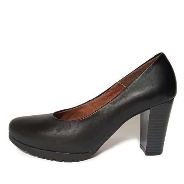 Zapatos de Tacón Ancho - Negro