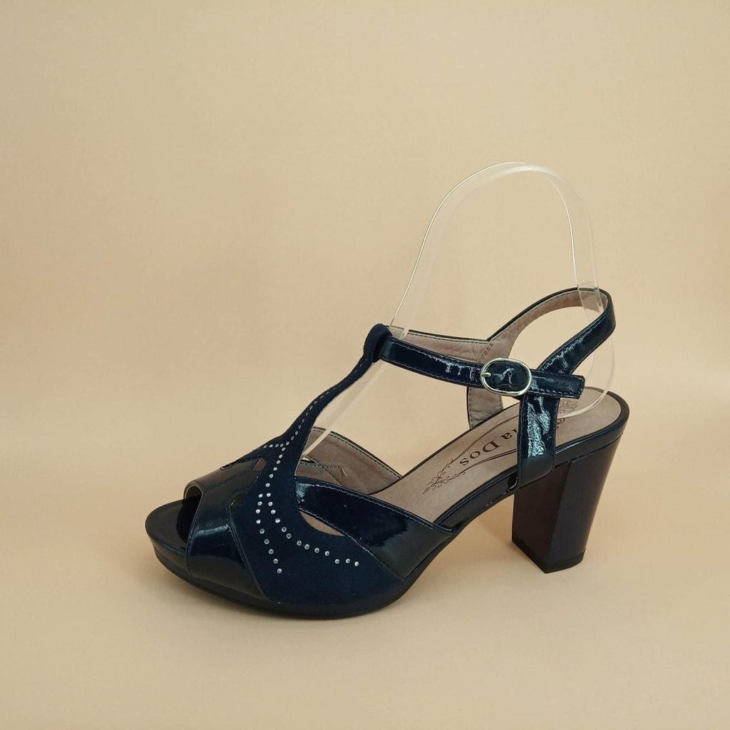 Zapato de Vestir Tacón Medio-azul