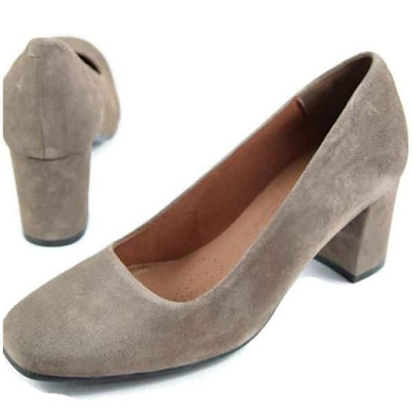 Zapato de Tacón Ancho de Ante Desiree 2290