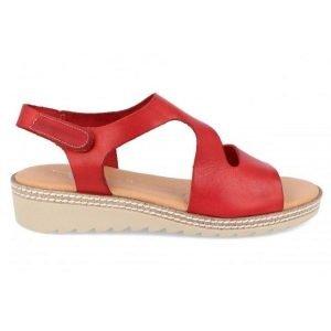 Sandalia-comoda-mujer-piel-rojo