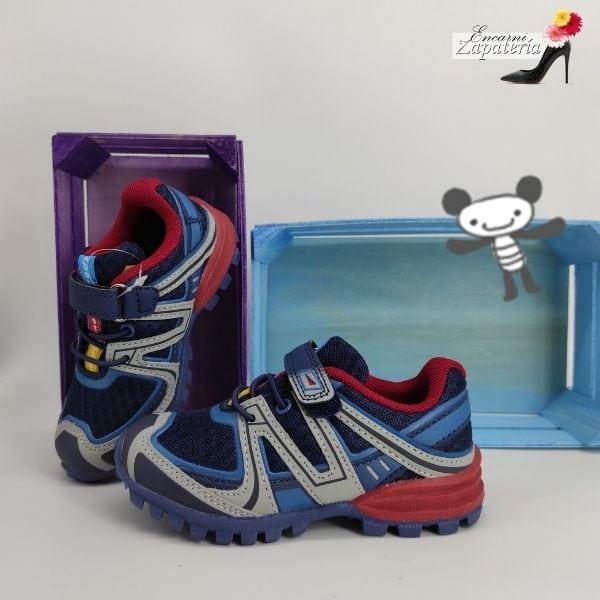 Deportivo de Niños Pequeños Azul Velcro