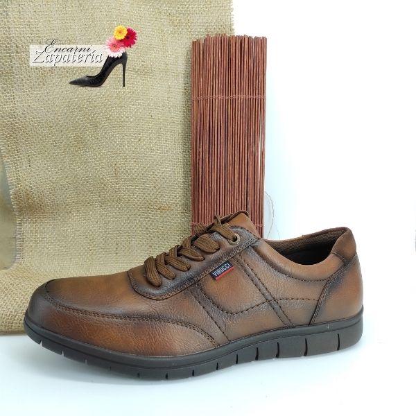 Zapato de Caballero Comodón muy Flexible color Marrón