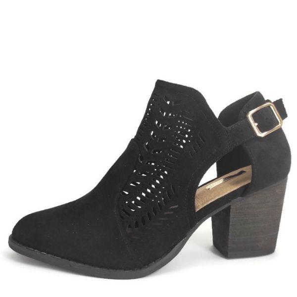 Zapato Abotinado de Fiesta para Mujer Negro